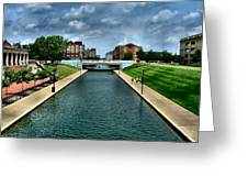 White River Park Canal In Indy Greeting Card by Julie Dant