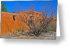 White Sands New Mexico Adobe 02 Greeting Card by Gregory Dyer