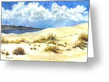 White Sands New Mexico U S A Greeting Card by Carol Wisniewski