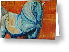 White Stallion Greeting Card by Jani Freimann