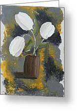 White Tulips Greeting Card by Leana De Villiers