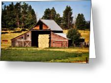 Whitefish Barn Greeting Card by Marty Koch