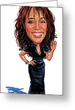 Whitney Houston Greeting Card by Art