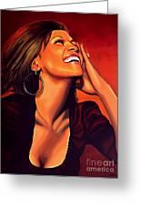 Whitney Houston Greeting Card by Paul Meijering