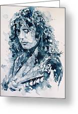 Whole Lotta Love Jimmy Page Greeting Card by Paul Lovering