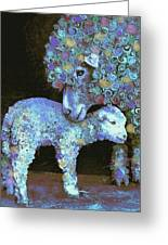 Whose Little Lamb Are You? Greeting Card by Jane Schnetlage