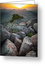 Wichita Mountains Greeting Card by Inge Johnsson