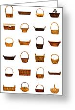 Wicker Basket Collection Greeting Card by Olivier Le Queinec