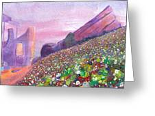 Widespread Panic At Redrocks Greeting Card by David Sockrider