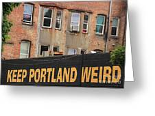 Weird And Wonderful Portland Greeting Card by Kris Hiemstra