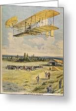 Wilbur Wright Airborne Greeting Card by Mary Evans Picture Library