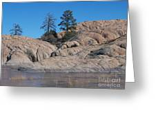 Willow Lake Number One Color Greeting Card by Heather Kirk
