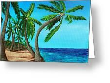 Wild Beach Greeting Card by Anastasiya Malakhova