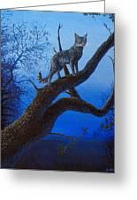 Wild Blue Greeting Card by Cara Bevan