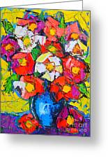 Wild Colorful Flowers Greeting Card by Ana Maria Edulescu