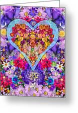 Wild Flower Heart Greeting Card by Alixandra Mullins