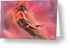Wild Koi Greeting Card by Robert Hooper