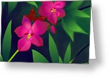 Wild Orchids Greeting Card by Latha Gokuldas Panicker