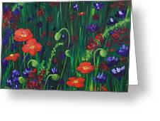Wild Poppies Greeting Card by Anastasiya Malakhova