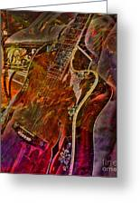 Wild Strings Digital Guitar Art By Steven Langston Greeting Card by Steven Lebron Langston
