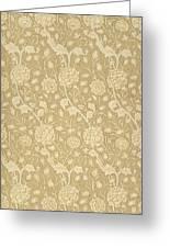 Wild Tulip Wallpaper Design Greeting Card by William Morris