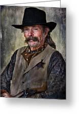 Wild West Cowboy Greeting Card by Barbara Manis