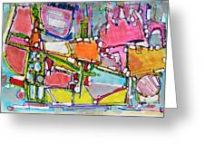 Wild World In The City Greeting Card by Hari Thomas