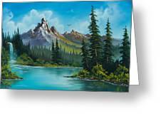Wilderness Waterfall Greeting Card by C Steele