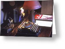 Will Rogers Desk Greeting Card by Paul W Faust -  Impressions of Light