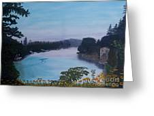 Willamette River Oregon Greeting Card by Ian Donley