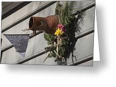 Williamsburg Bird Bottle 1 Greeting Card by Teresa Mucha