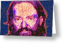Willie Nelson Painterly 20130328 Square Greeting Card by Wingsdomain Art and Photography
