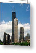 Willis Tower Aka Sears Tower Greeting Card by Adam Romanowicz