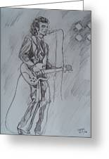 Mink Deville - Steady Drivin' Man Greeting Card by Sean Connolly