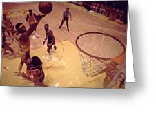 Wilt Chamberlain Finger Roll  Greeting Card by Retro Images Archive