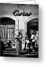 Win Lotto Buy Cartier Greeting Card by Karen Lindale