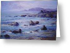 Wind On The Surf Greeting Card by R W Goetting