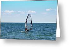 Wind Surfer Greeting Card by Aimee L Maher Photography and Art