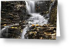 Winding Waterfall Greeting Card by Christina Rollo