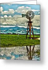 Windmill On The Hills Greeting Card by Artist and Photographer Laura Wrede