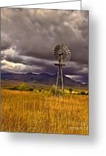 Windmill Greeting Card by Robert Bales