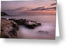 Windnsea Misty Waters Greeting Card by Peter Tellone