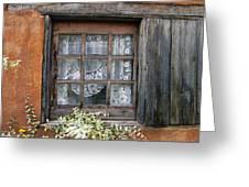 Window At Old Santa Fe Greeting Card by Kurt Van Wagner