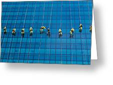 Window Cleaners Greeting Card by David Van der Want
