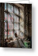 Window Decay Greeting Card by Adrian Evans