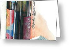 Window on a Bottle Greeting Card by Alessandra Andrisani