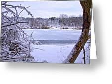 Window On The Lake Greeting Card by Jim Baker