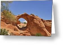 Window Rock Arizona Greeting Card by Christine Till