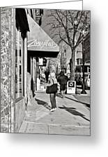 Window Shopping In Lancaster Greeting Card by Trish Tritz