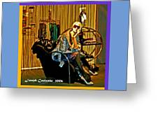 Window Shopping Greeting Card by Joseph Coulombe